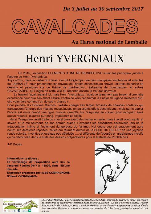 Exposition d'Henri Yvergniaux - Cavalcades